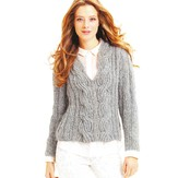 Skacel Luxair Ribbed Pullover with Ribbed Cables