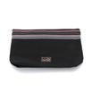 della Q 1112-1 Lily Small Stripe Zip Pouch - Black