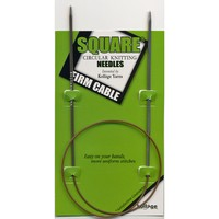 """Firm Cable 16"""" Square Circular Needles"""