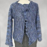 Stacy Charles Fine Yarns Ritratto Ruffled Drape-Front Jacket (Free)