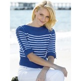 Tahki Yarns Nautical Stripes Boatneck Pullover (Free)