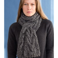 Steinbeck Cabled Scarf (Free)
