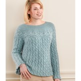 Valley Yarns 198 Brattleboro Cabled Swing Pullover