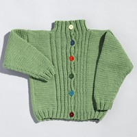 211 Ribbed Front Child's Cardigan