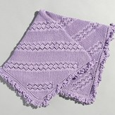 Valley Yarns 213 Eyelet And Garter Baby Blanket