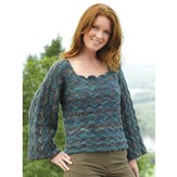 Valley Yarns 232 Wavelength One Piece Pullover (Free)