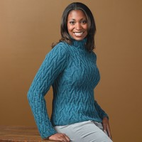 267 Phantom Braid Cabled Pullover (Free)