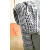 Valley Yarns 286 Shale Pleated Scarf (Free)