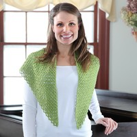 363 Pincushion Moss Crocheted Shawl