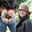 Valley Yarns 424 Favia Crocheted Hat and Mittens - 424p