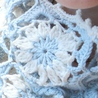 573 Frost Rime Cowl and Mitts