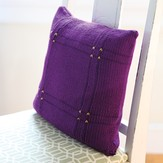 Valley Yarns 585 Viola Plaid Pillow