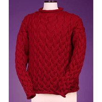 123 Wavy Cable Rollneck Pullover