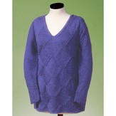 Vermont Fiber Designs 128 Moss And Diamond V-neck Pullover