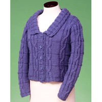 129 Cable And Rib Cardigan
