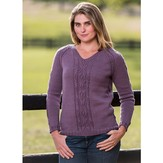 Vermont Fiber Designs Top-Down Cable and Diamond Pullover PDF