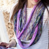 Vogue Knitting Purple and Pink Extra Long Cowl (Free)