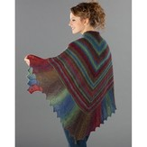 Wisdom Yarns Lace Edge Garter Stitch Shawl (Free)