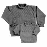 28 Basketweave Pullover for Children & Adults