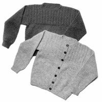 8 Mock Cable Pullover & Cardigan