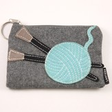 Lantern Moon Yarn Ball with Needles Keychain Clutch