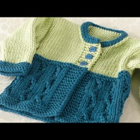 257 Cold Spring Baby Cardigan (Free)